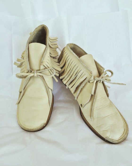 Image of Off-White Leather Moccasins