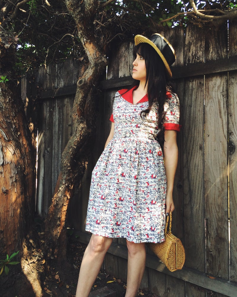 Image of Red Collar Dress