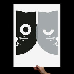 "Image of Dueling Watson B&W Print 18x24""(Silkscreen)"
