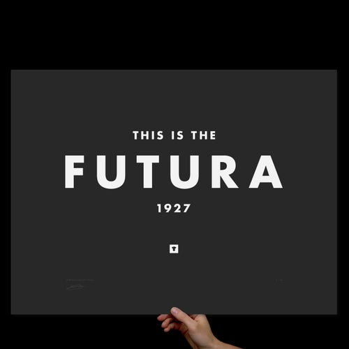 Image of Futura Print on Black - Screen Printed