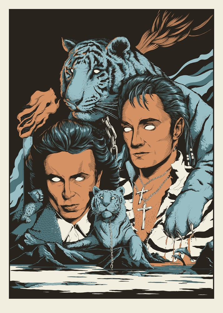 Image of Siegfried & Roy, Masters of the impossible. Limited edition Screen print