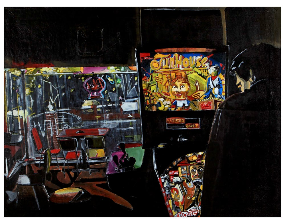 Image of Pinball at CBGBs (STL) 11x14 inch print