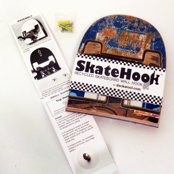 Image of SkateHook - Recycled Skateboard Wall Hook - Single