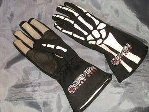 Image of Driven Skeleton Nomex Racing Gloves