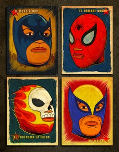 Image of SUPER LIBRE, 4 art print set.