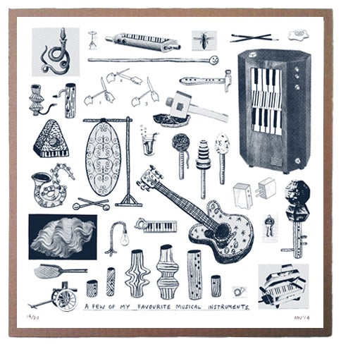 Image of A Few Of My Favourite Musical Instruments - Screenprint