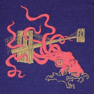 Image of Squid Attack Indigo T-shirt