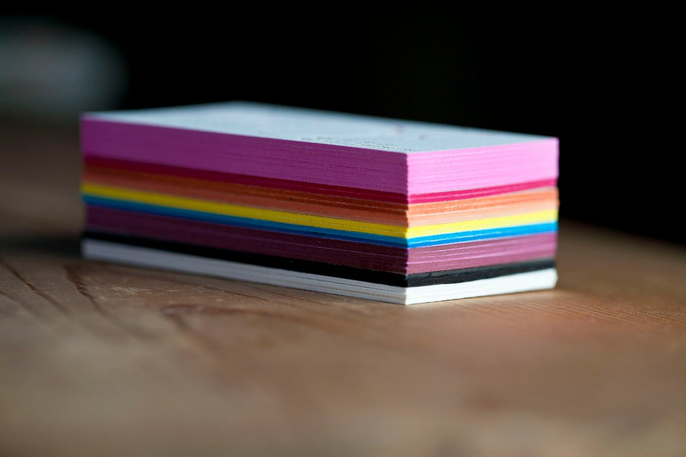 Image of 250 Letterpress Business Cards (1-ink color)