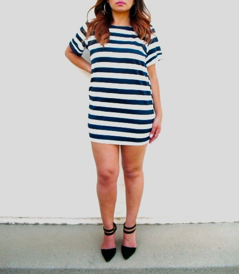 Image of Piper Striped Tunic Dress