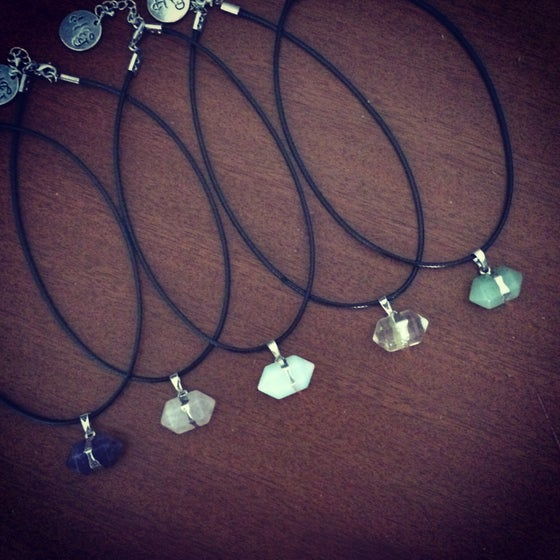 Image of Crystal nugget necklace & choker