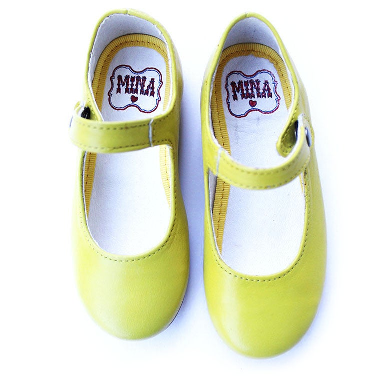 Image of Soleil Yellow Ballerina Shoes
