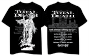 """Image of TOTAL DEATH """"North American Suffering tour"""" 2014"""