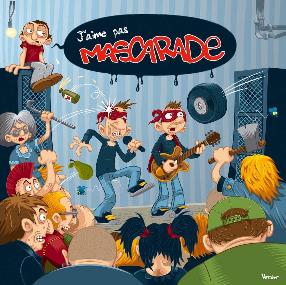 "Image of CD ""J'aime pas MASCARADE"" album 13 titres octobre 2013"