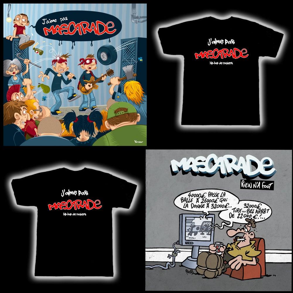 "Image of PACK: T-shirt + ALBUM ""J'aime pas MASCARADE"" + EP ""Rien n'a foot"""