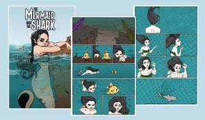 Image of The Mermaid and the Shark comic
