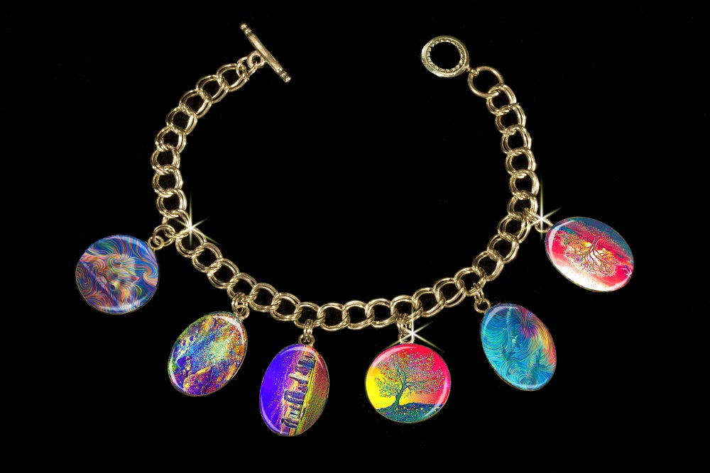 Image of Energy Healing Charm Bracelet by Julia Watkins.  Use discount code HEAL50 to get $50 off this item.