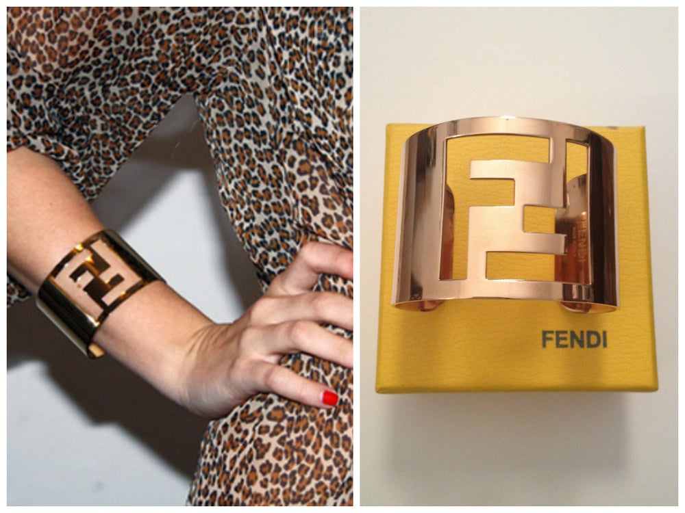 Image of SOLD OUT Fendi Logo Cuff Bracelet - Rose Gold Color