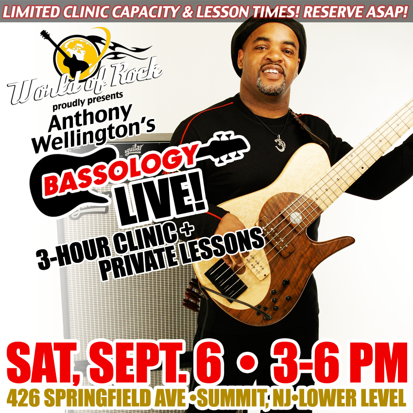Image of Anthony Wellington BASSOLOGY Clinic - Sept. 6, 2014 (+ Private Lessons!)