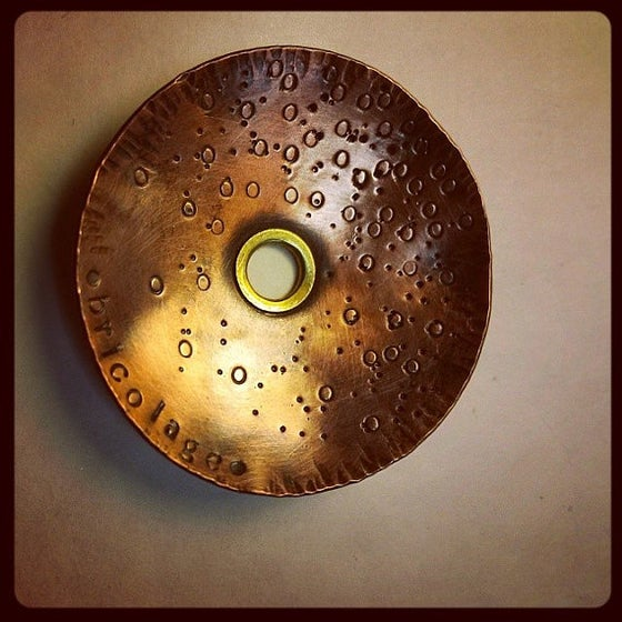 Image of Bespoke Textured Copper Diz