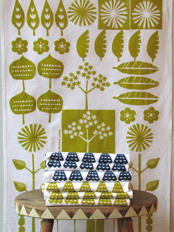 Image of WALKING IN THE WOODS TEA TOWEL
