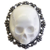Image of Framed Skull Brooch