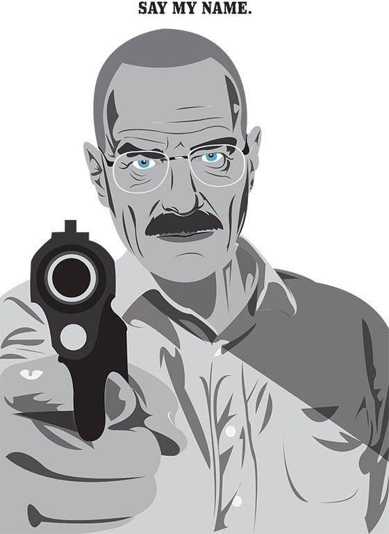 "Image of Walter White ""Heisenberg"" A3 print"