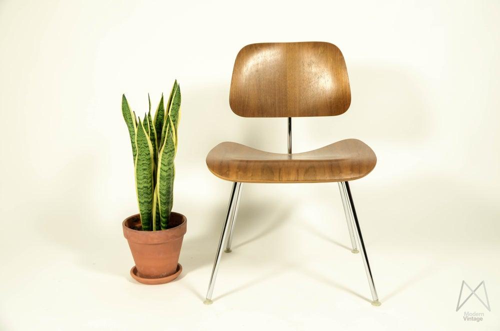 Image of Eames Herman Miller DCM Walnut - buying vintage original for sale