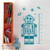 Image of Little Robot Friend Wall Decal Sticker M002 Bedroom Art Boys Nursery Robots