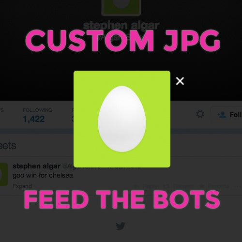 Image of Custom JPG // Feed the Bots