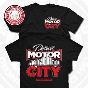 Image of Detroit Motor City Black Tee
