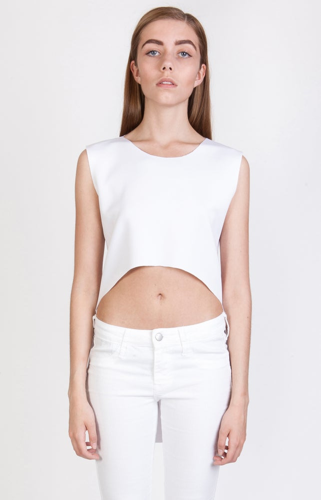 Image of SS Clean Cut Crop Top - White