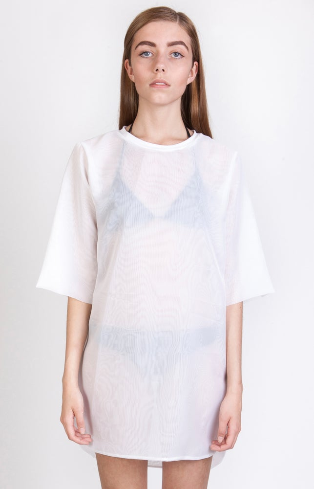 Image of SS Wavy Overlay Dress