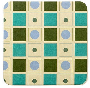Image of Coasters in Turquoise Bowler • 16 pack