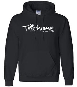 Image of Trichome Supply Co. OG Script Pullover Hood In Black