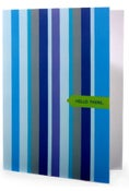 Image of Hello There. • Single Note in Ocean Blue Stripe