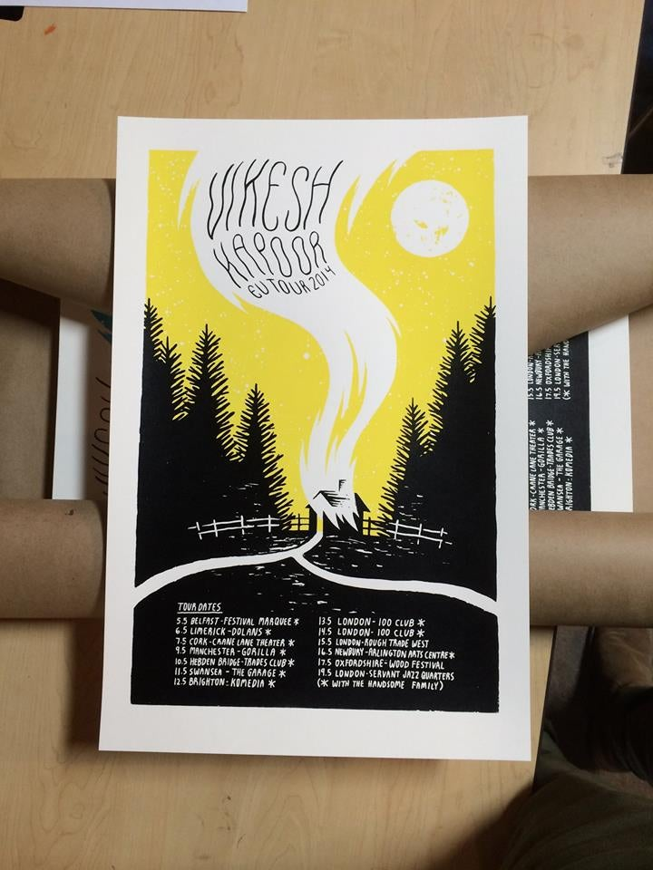 Image of Limited Edition UK Tour Screenprint Poster