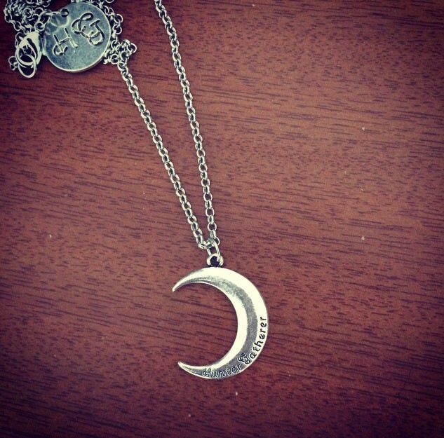 Image of Silver HG moon choker & necklace