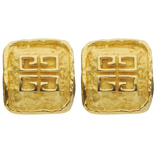 Image of SOLD OUT Givenchy Authentic Square Vintage Logo Earrings