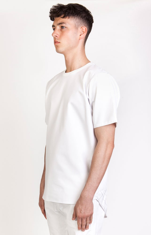 Image of SS Checkered Back Panel T-Shirt