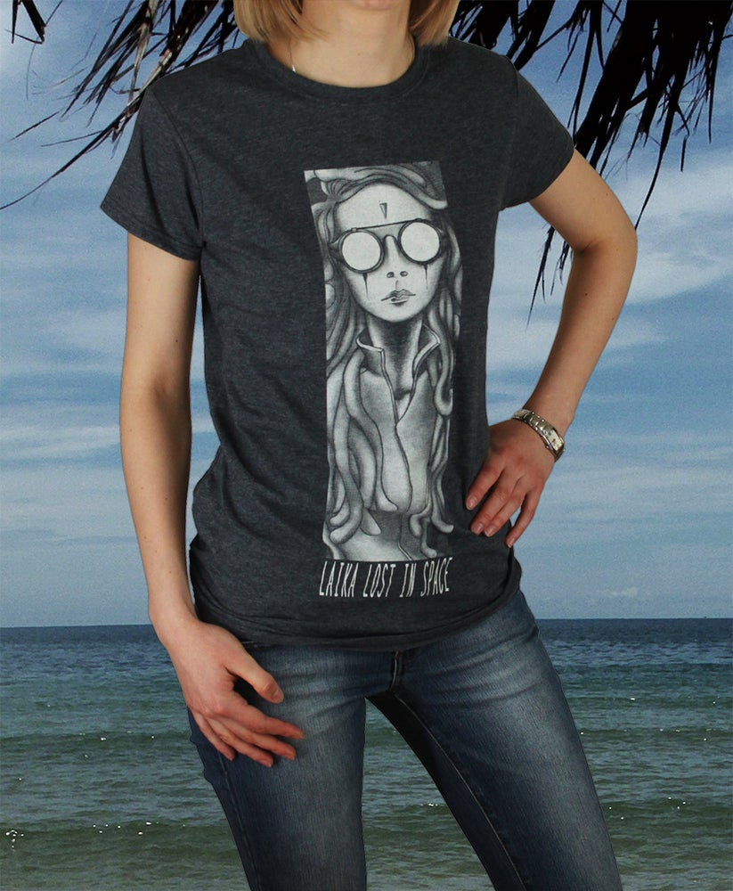 Image of (SOLD OUT) Laika lost in Space -Frozen Doves of Peace (Shirt Grey)