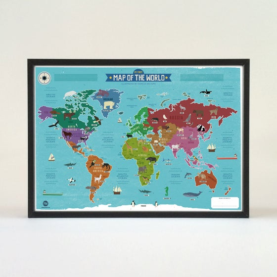 Image of Children's Map of the World