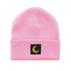 Image of Baby Pink Moon Patch Beanie