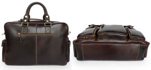 Image of Handmade Superior Leather Business Travel Bag / Tote / Messenger / Duffle Bag / Weekend Bag (n62-8)