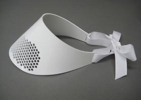 Image of White hex cut visor