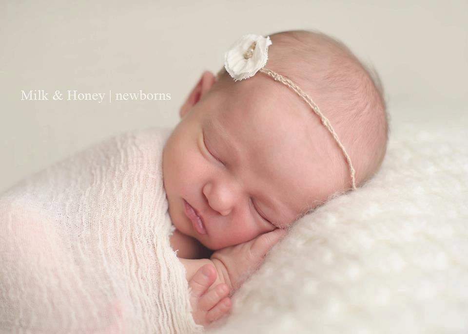 Image of {the Angelic} Gauze wrap & headband SET