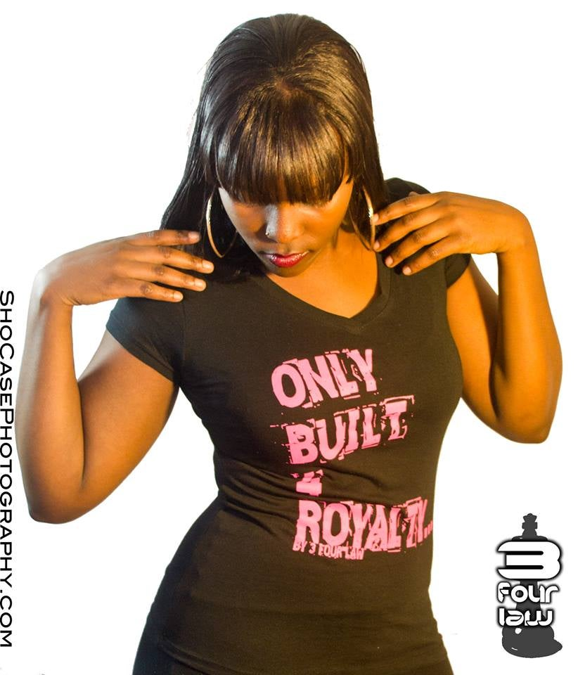 Image of Only Built 4 Royalty V-Neck For Women