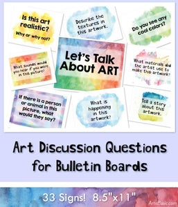 Image of Art Discussion Poster Signs