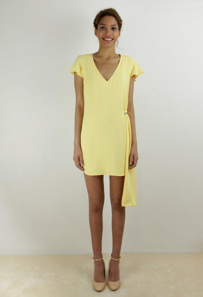 Image of YELLOW MINI DRESS