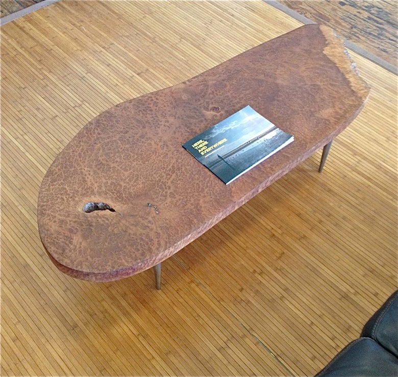 Image of Handmade Burlwood Coffee Table