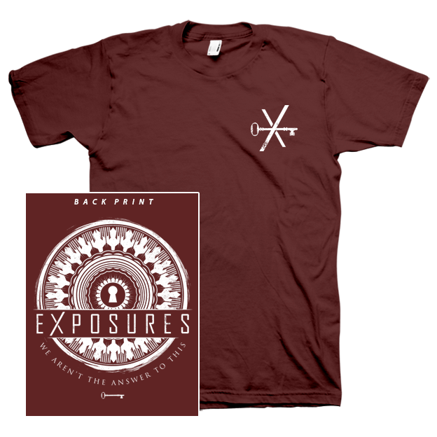 """Image of """"Transitions"""" T-Shirt - Maroon"""